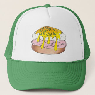 Eggs Benedict Food Foodie Cook Chef Ham Breakfast Trucker Hat
