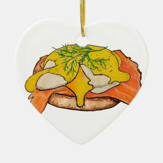 Eggs Benny Ceramic Ornament
