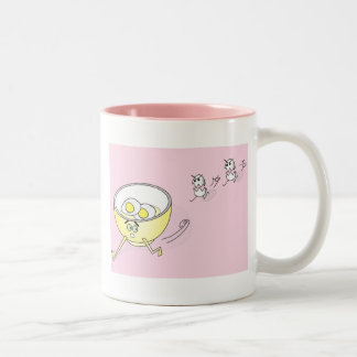 Eggs Chasing a Bowl Mug