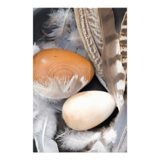 Eggs & feathers stationery