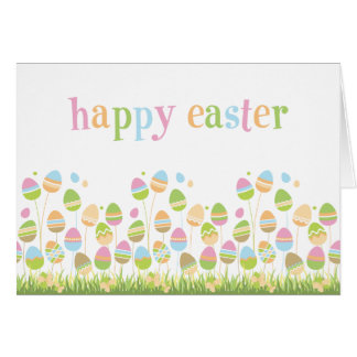 Eggs in the Park Easter Greeting Card