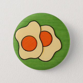 Eggs on a Plate 2 Inch Round Button
