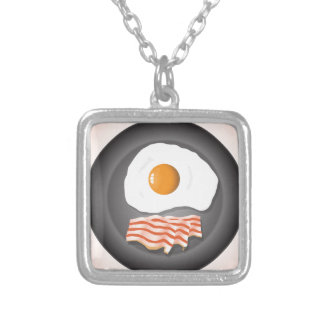 eggs silver plated necklace