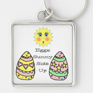 Eggs Sunny Side Up Easter Keychain