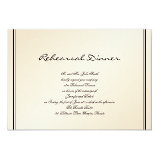 Eggshell Elegance Wedding Rehearsal Card