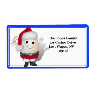 Eggstrordinary Christmas Shipping Label