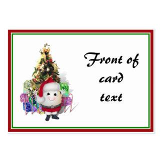 Eggstrordinary Santa Christmas Egg Pack Of Chubby Business Cards