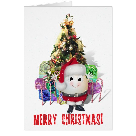Eggstrordinary Santa Christmas Egg Card