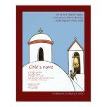 Église Bells Carton D'invitation 10,79 Cm X 13,97 Cm