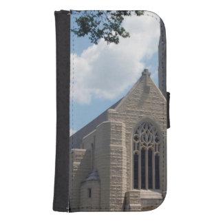Église de cathédrale coque avec portefeuille pour galaxy s4