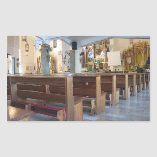 Église de Santo Niño Stickers En Rectangle