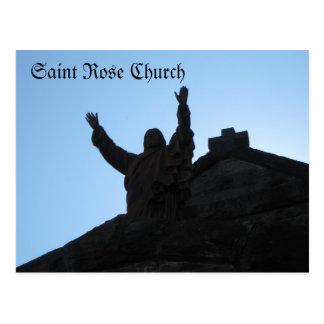 Église rose Santa Rosa, CA de saint Carte Postale