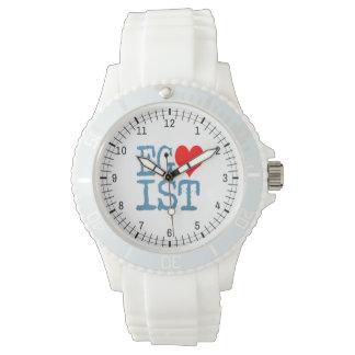 Egoist Red Heart Denim Wristwatches