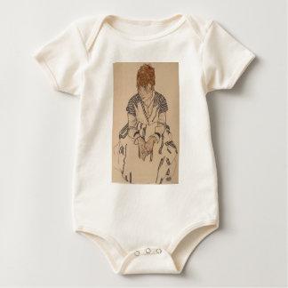 Egon Schiele- Artist's Sister in Law Baby Bodysuit