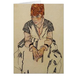 Egon Schiele- Artist's Sister in Law Card
