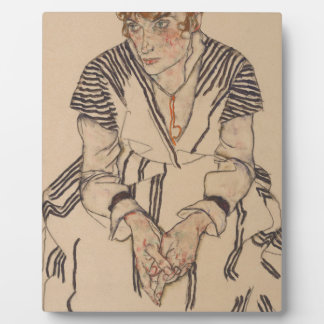 Egon Schiele- Artist's Sister in Law Plaque