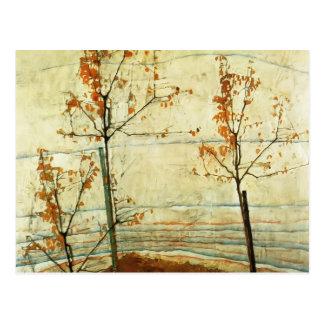 Egon Schiele- Autumn Trees Postcard