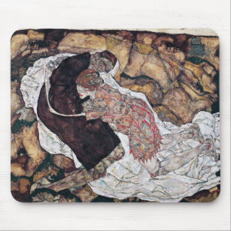 "Egon Schiele, ""Death and the Maiden"" Mouse Pad"