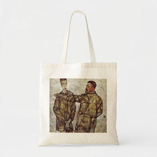 Egon Schiele- Double Portrait Canvas Bag