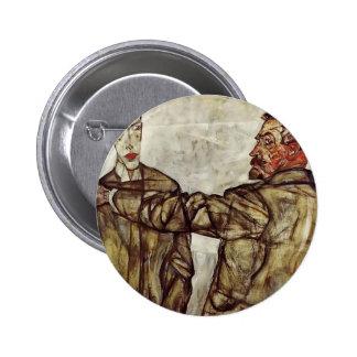 Egon Schiele- Double Portrait Pinback Button