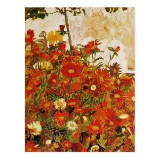 Egon Schiele- Field of Flowers Postcard