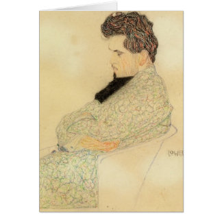 Egon Schiele- Portrait of Arthur Lowenstein Card