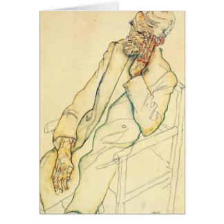 Egon Schiele- Portrait of Johann Harms Card