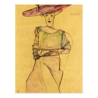 Egon Schiele- Portrait of Madame Dr. Horak Postcard