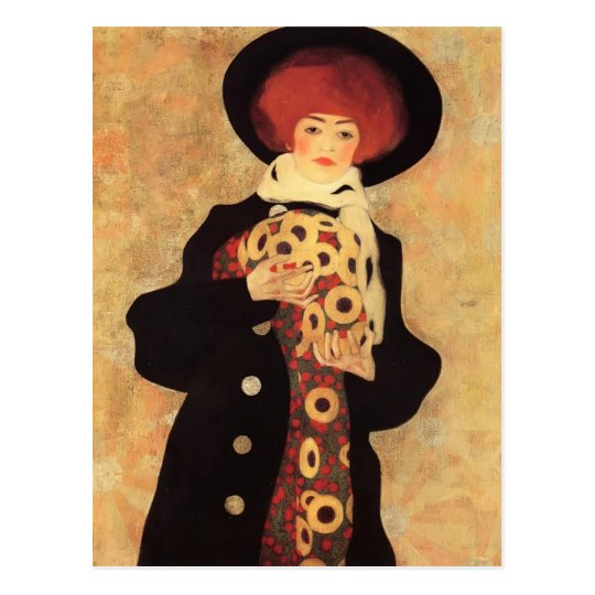 Egon Schiele- Woman with Black Hat Postcard