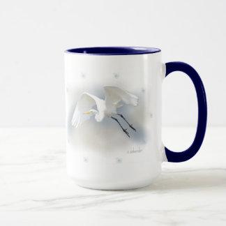 Egret 2 Large Coffee Mug
