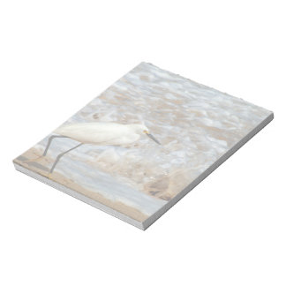 Egret and Wave Splash Notepad