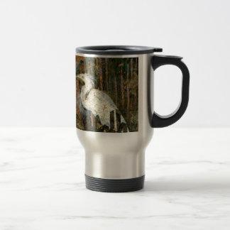Egret At Sunset Travel Mug