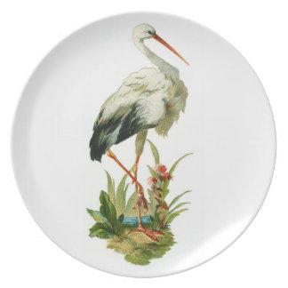 Egret Bird Plate