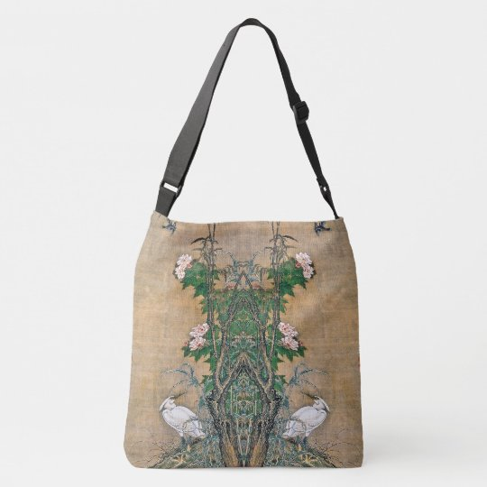 Egret Birds Rose Flowers Wildlife Animals Tote Bag