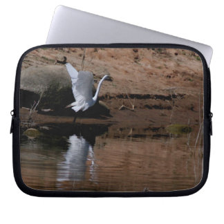 Egret Birds Wildlife Animal Photography Computer Sleeves