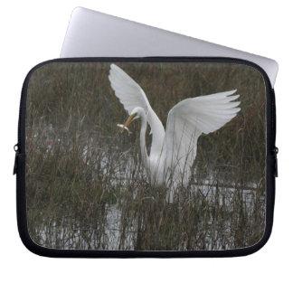 Egret Birds Wildlife Animal Photography Laptop Computer Sleeve
