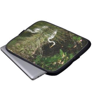 Egret Birds Wildlife Animal Photography Laptop Computer Sleeves