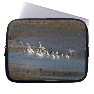 Egret Birds Wildlife Animal Photography Laptop Sleeves