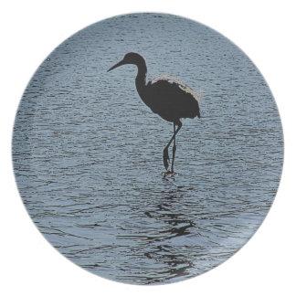 Egret Birds Wildlife Animal Photography Party Plates