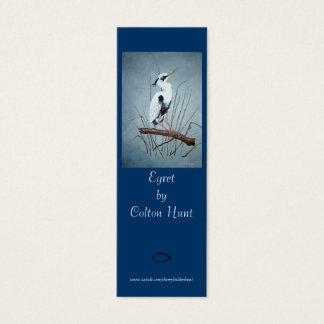 Egret Bookmark by Colton Hunt Mini Business Card