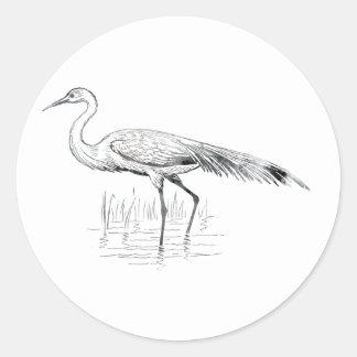 Egret Classic Round Sticker