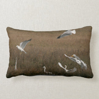 Egret Gull Birds Wildlife Animals Throw Pillow