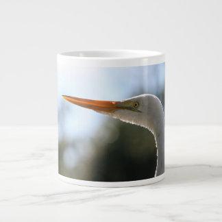 egret head close up neat original bird photograph jumbo mug