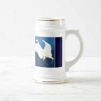 Egret Heron Bird Wildlife Animal Photography Beer Stein