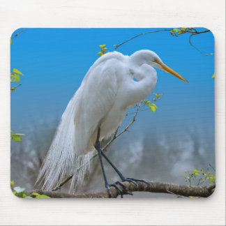Egret in a Tree Mousepad