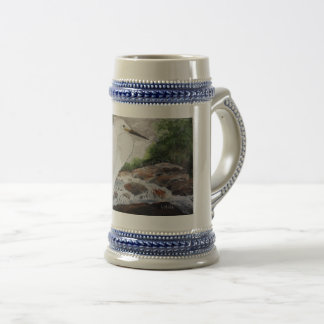 Egret In The Mountain Beer Stein