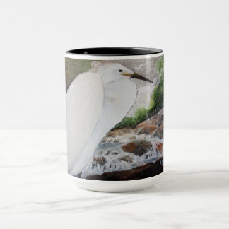 Egret In The Mountain Coffee Mug