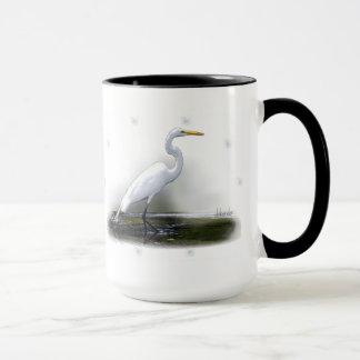 Egret Large Coffee Mug