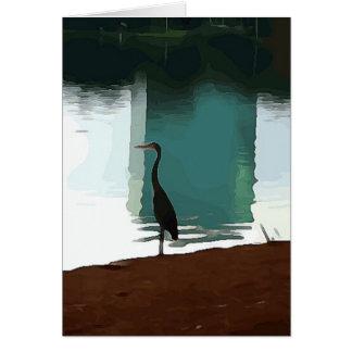 Egret on Lake Eola Card