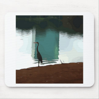 Egret on Lake Eola Mouse Pad